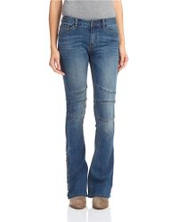 Free People Seamed Flared Jeans - Lyst