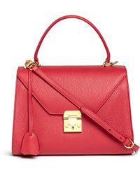 Mark Cross 'Hadley' Small Leather Flap Bag - Lyst