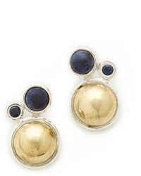 Pamela Love Cluster Earrings Silverbrasslapis - Lyst