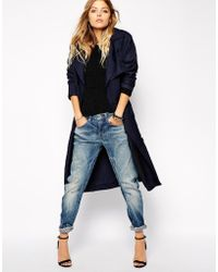 G-Star RAW G Star Relaxed Trench Coat - Blue
