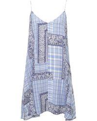 Topshop Patchwork Swing Slip Dress  - Lyst