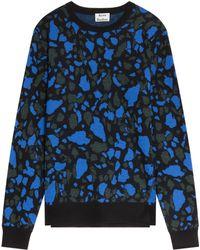 Acne Studios Mayer Marble Print Knit - Lyst