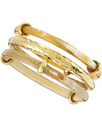 Ashley Pittman Karibu Light Horn  Bronze Bangles - Lyst