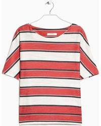 Mango Oversize Striped Top - Lyst