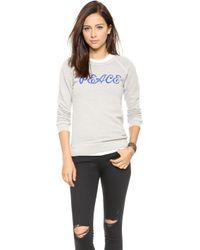 Rxmance Peace Sweatshirt  Oatmeal - Lyst