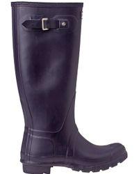 Hunter | Original Wellington Rain Boot Purple | Lyst