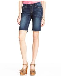 Jessica Simpson | Lively Frayed Bermuda Shorts | Lyst