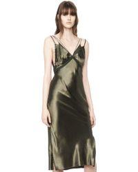 Alexander Wang Satin Slip Dress - Green