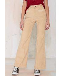 Wrangler Vintage Trixie Corduroy Wide Leg Pants - Natural