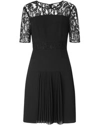 Whistles Beth Lace Insert Dress - Lyst
