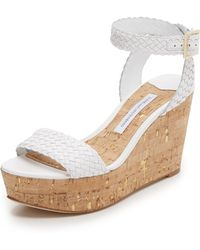 Diane von Furstenberg Montclair Wedge Sandals - White
