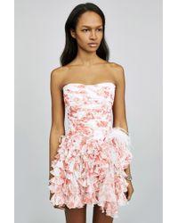 Faith Connexion   Silk Print Bustier Dress   Lyst