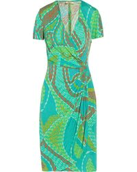 Issa Gathered Jersey Dress - Lyst