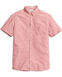 H&M Short-Sleeved Oxford Shirt - Lyst
