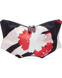 Alexander McQueen Pink And Red Kite Print Small De Manta Clutch - Lyst