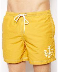 Jack Wills - Plain Swim Shorts Sunshine - Lyst