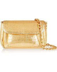 Nancy Gonzalez Metallic Crocodile Shoulder Bag - Lyst