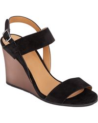 Marc By Marc Jacobs Transparent Wedge Suede Sandals - Lyst