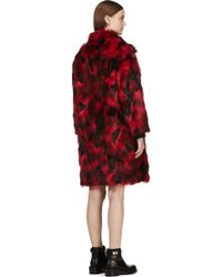 Jay Ahr | Red and Black Faux_fur Overcoat | Lyst