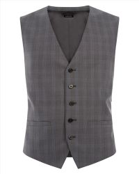 Jaeger Wool Check Classic Waistcoat - Lyst