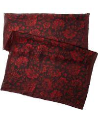 Valentino Red Roses Satin Chiffon Scarf - Lyst