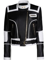 Balmain Leather Outerwear - Lyst