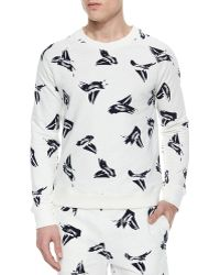 Band of Outsiders Sailboat Print Crewneck Sweater - Lyst