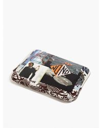 Raf Simons Men'S Printed Leather Tablet Case multicolor - Lyst