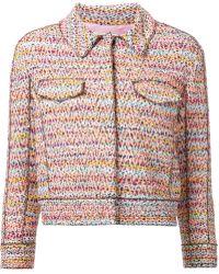Nina Ricci Short Tweed Jacket - Lyst