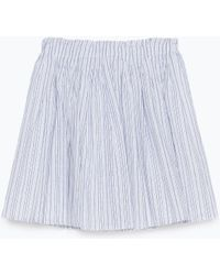 Zara Striped Short Skirt - Lyst