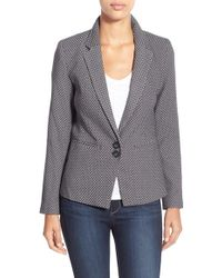 Dex - Jacquard One-button Blazer - Lyst