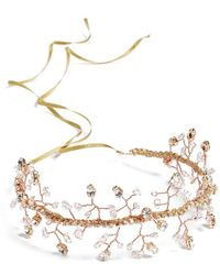 Nestina Accessories - 'anis' Crystal Vine Bridal Head Piece - Metallic - Lyst