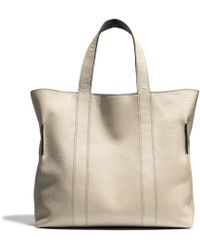 Coach Bleecker Reversible Bucket Tote in Pebbled Leather - Lyst