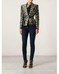 Balmain Leopard Jacket - Lyst