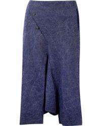 Ziggy Chen Linen Pants - Blue