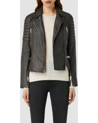 AllSaints Leather Huxley Biker Jacket - Lyst