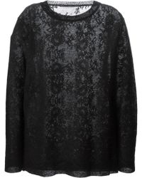Ermanno Scervino Woven Lace Sweater - Lyst