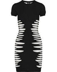 McQ by Alexander McQueen Slasheffect Stretchknit Dress - Lyst