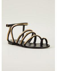 Giuseppe Zanotti Chain Embellished Sandals - Lyst