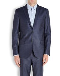 J.Lindeberg - Hopper 140's Platinum Blue Wool Jacket - Lyst