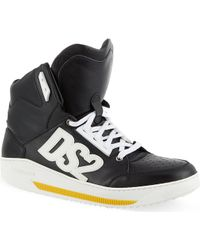 DSquared2 Studded Hightop Trainers Black - Lyst