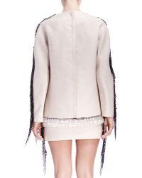 Lanvin - Fringe & Bead-Trim Long-Sleeve Sweatshirt - Lyst