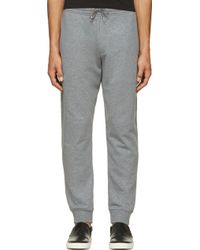 McQ by Alexander McQueen Heather Grey Swallow Embroidered Lounge Pants - Lyst