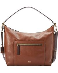 Fossil - Vickery Shoulder Leather Bag - Lyst