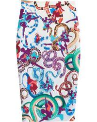 Mary Katrantzou Printed Jersey Pencil Skirt - Lyst