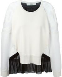 Prabal Gurung Panelled Lace Sweater - Lyst