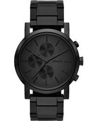 shop men s dkny watches from 80 lyst dkny soho men s chronograph watch lyst
