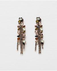 Zara | Long Jewelled Earrings | Lyst