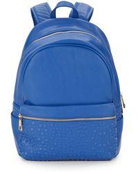 Saks Fifth Avenue Gabbie Stud-textured Backpack - Blue