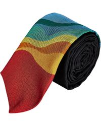 Band of Outsiders - Rainbow-Stripe Neck Tie-Black - Lyst